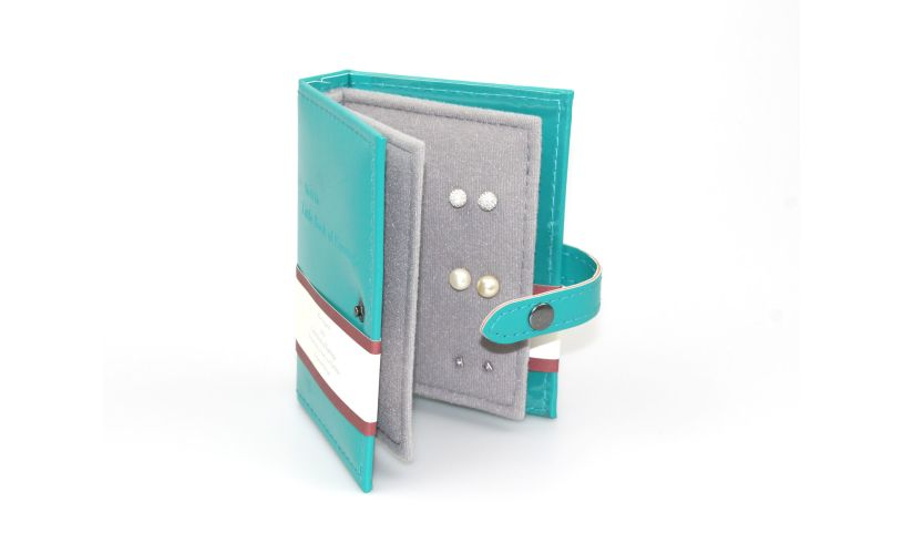 Little Book of Earrings Teal