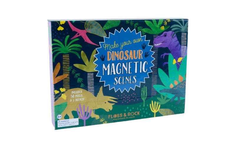 Floss and Rock Dinosaur Magnetic Scenes