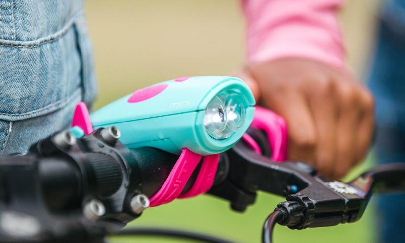 turquoise on bike