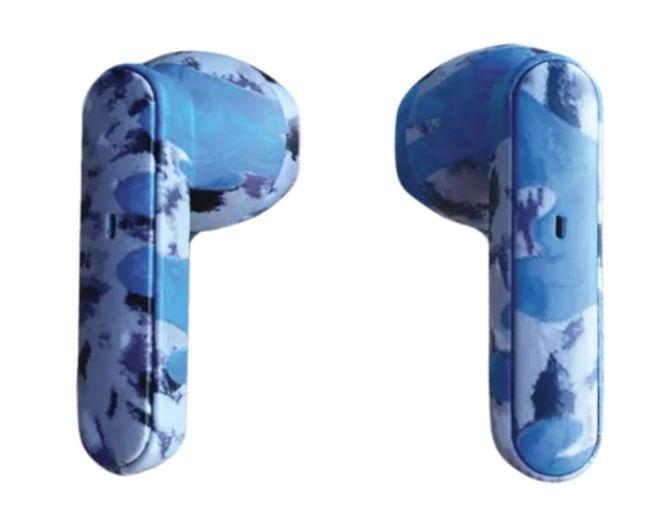 Ear Buds - blue tie dye