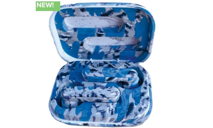 Ear Buds - Blue tie dye box