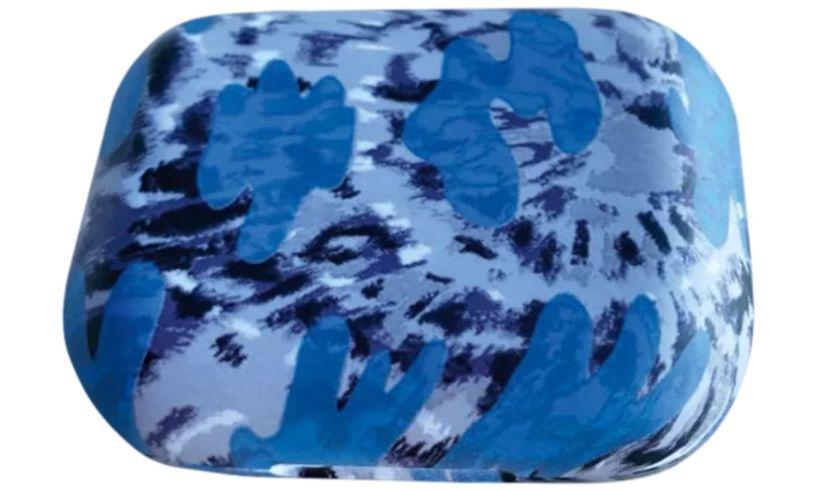 Blue tie dye earbuds iscream box