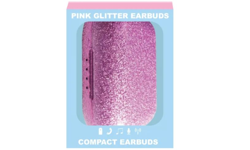 Ear bud pink glitter iscream package
