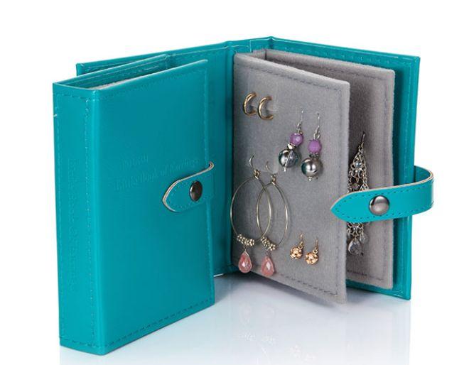 Little Book of Earrings Teal