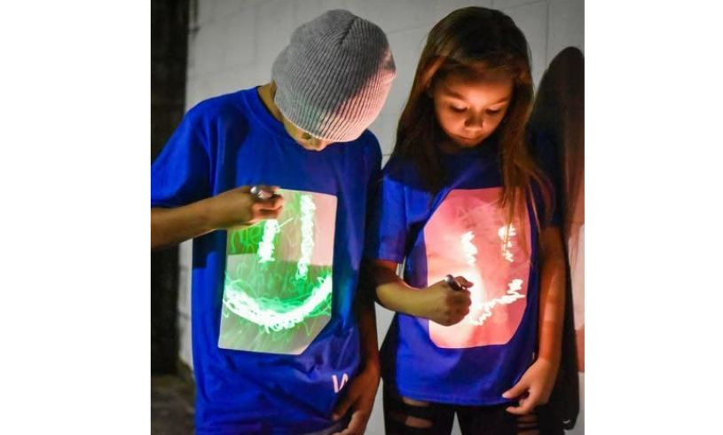 Blue Interactive Glow T-Shirt