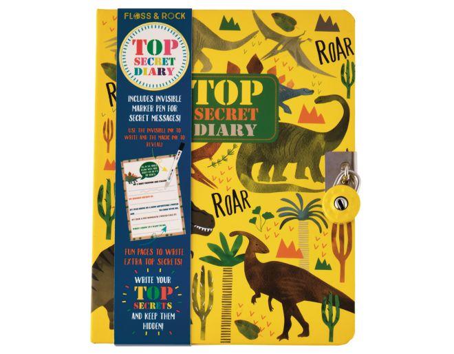 Top Secret Lockable Dinosaur Diary
