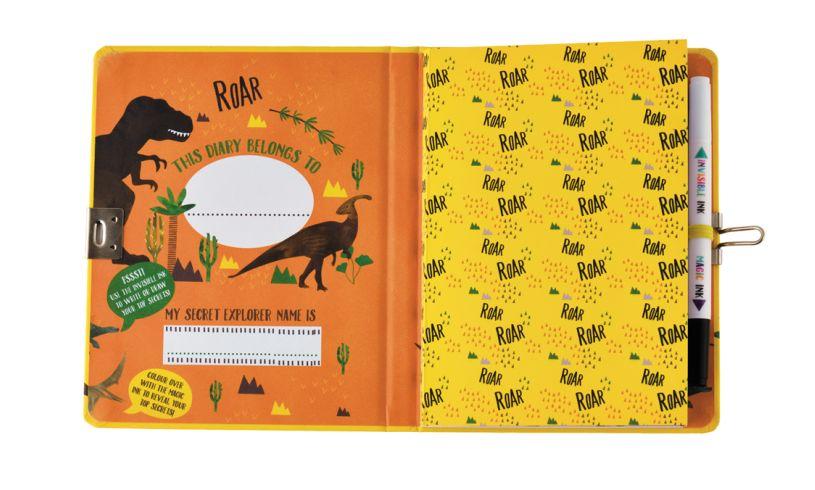 Floss and Rock Top Secret Lockable Dinosaur Diary