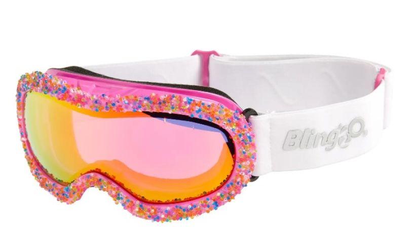 Bling20 Rainbow sprinkles ski goggles