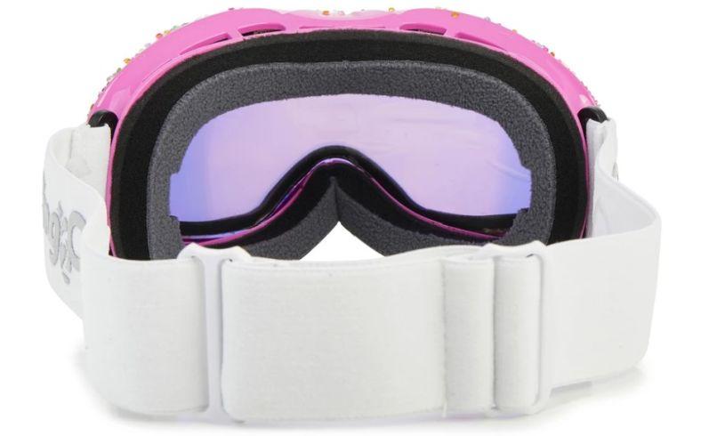 Rainbow sprinkles ski goggles back
