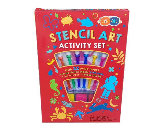 Barney and Buddy Stencil Art Activity Set