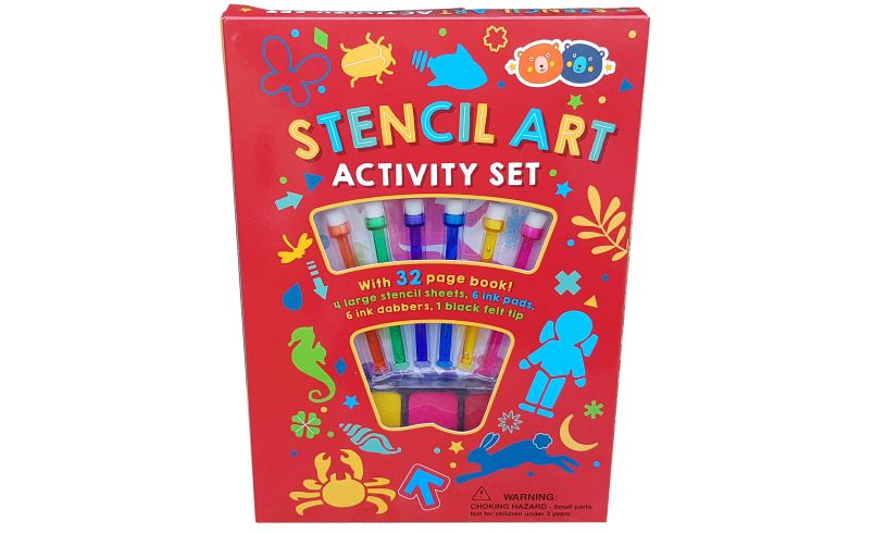 Barney and Buddy Stencil Art Activity Set