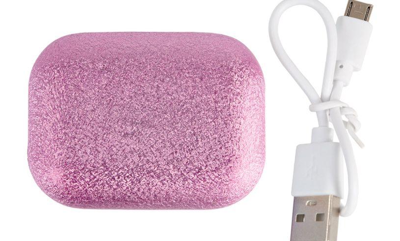 ear bud pink glitter iscream box
