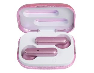 Ear Buds - Pink Glitter