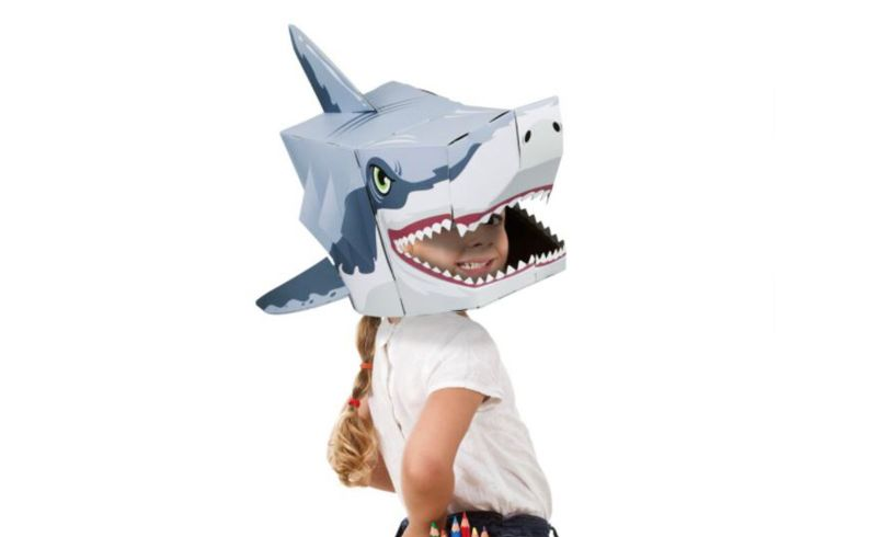 Fiesta Make a 3D Shark Head Mask