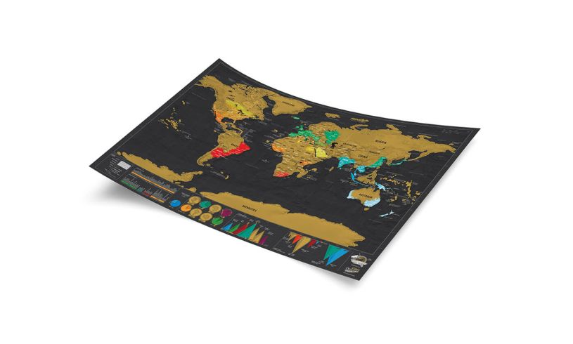 Luckies Scratch Map Deluxe Travel Edition