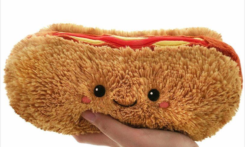 Hotdog Squishable cushion