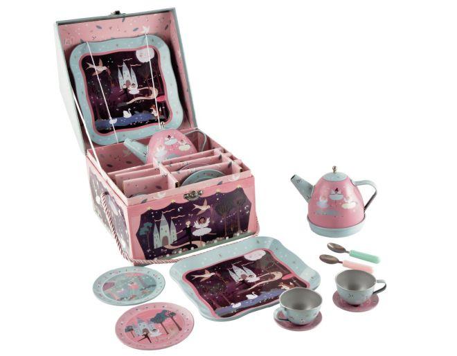 Musical Tin Tea Set 10 Pieces
