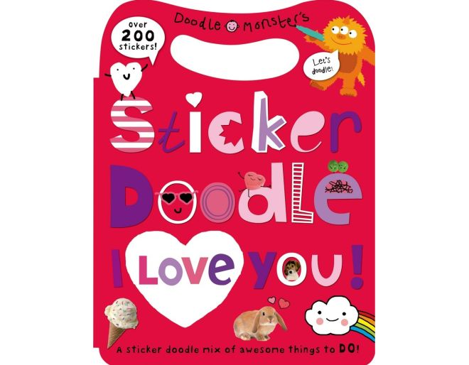 200 Stickers Doodles I love you cover