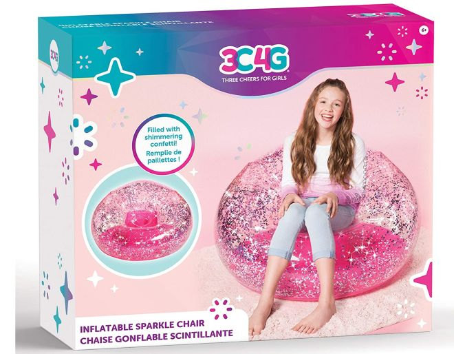 Inflatable pink glitter Chair box packaging