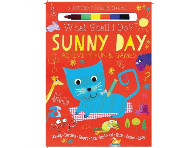 sunny day activity games book cover