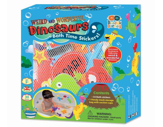 Buddy & Barney Dinosaurs Bath Stickers