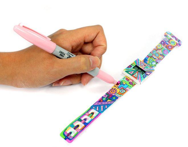 DIY decorate paper watch customization project