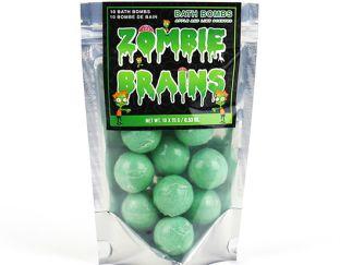Zombie brains bath bombs for kids