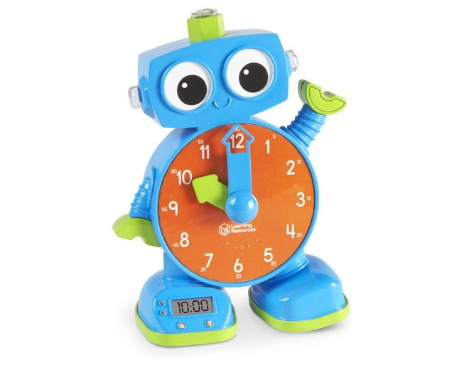 Tock the clock toy in blue