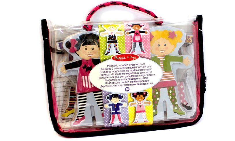Magnetic Wooden Dress Up Dolls Carry Case