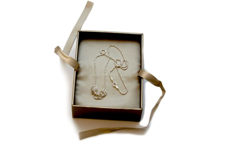Lucky Seven Rings Necklace Contents