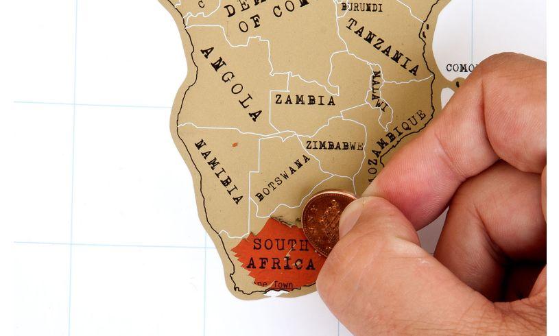 World Scratch Map Close Up