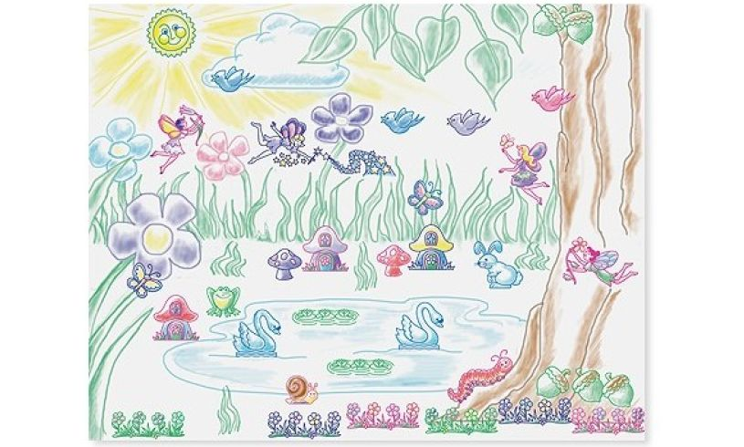 Fairy Garden Stamp-a-Scene Picture
