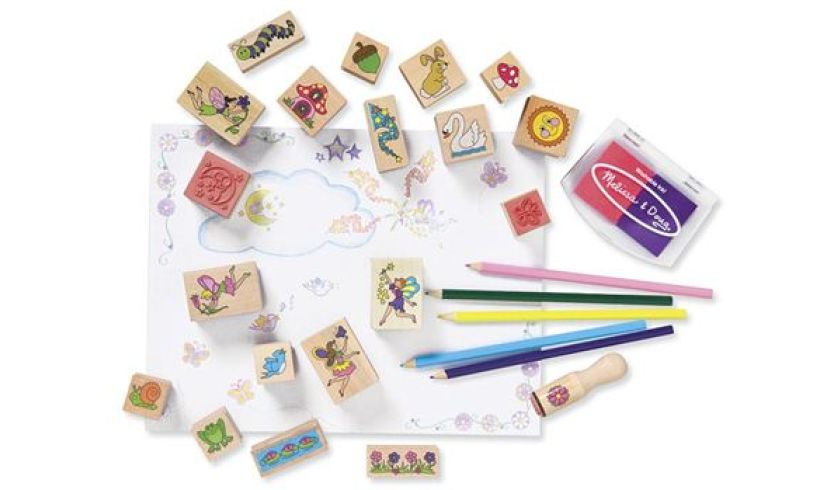 Fairy Garden Stamp-a-Scene Contents
