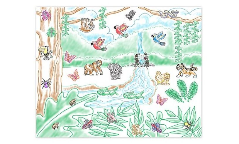 Rain Forest Stamp-a-Scene Picture