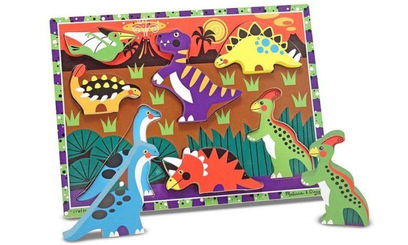 Chunky Dinosaur Puzzle Pieces