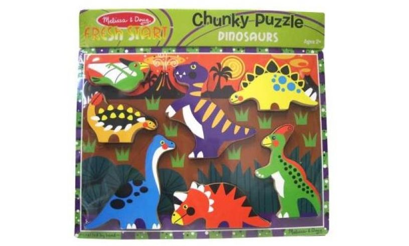 Chunky Dinosaur Puzzle Packaging