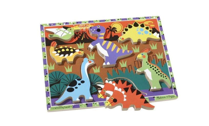 Chunky Dinosaur Puzzle Spill