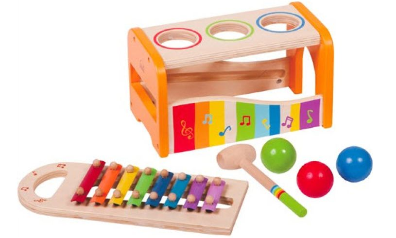 Pound n Tap Bench with Xylophone Contents