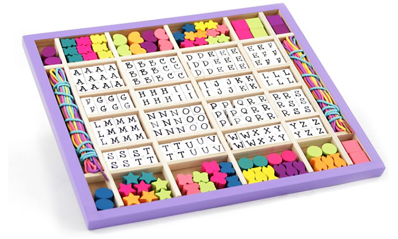 Wooden Stringing Beads Display Box